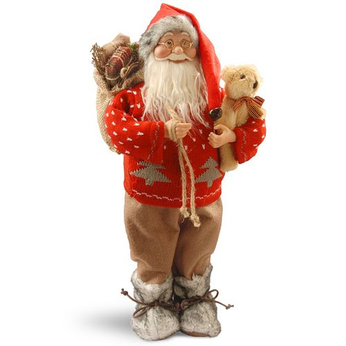National Tree Company 17.7″ Standing Santa Table Decor