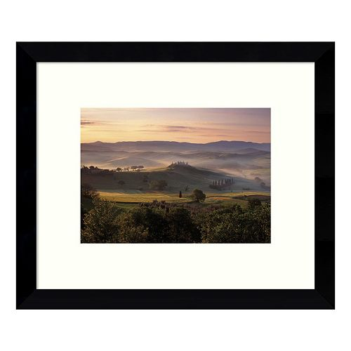 Dawn Mist Rising Countryside Framed Wall Art