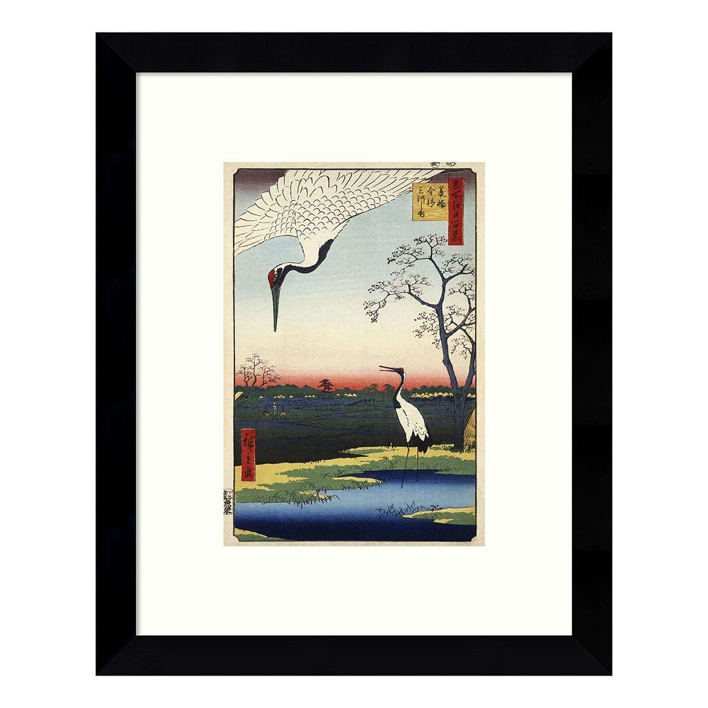 Minowa, Kanasugi, Mikawashima Framed Wall Art