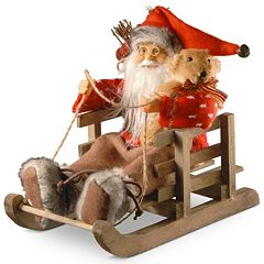 National Tree Company 7.8' Santa in Sleigh Table Decor
