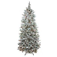 7.5-ft. Pre-Lit Artificial Colorado Spruce Slim Christmas Tree