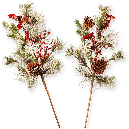 "National Tree Company 26"" Holiday Artificial Branch Spray 2-piece Set"