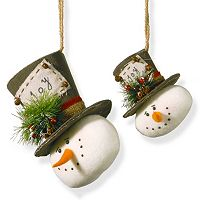 National Tree Company Snowman Christmas Ornament 2-piece Set
