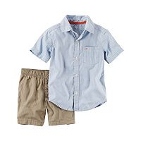 Baby Boy Carter's Striped Shirt & Solid Shorts Set