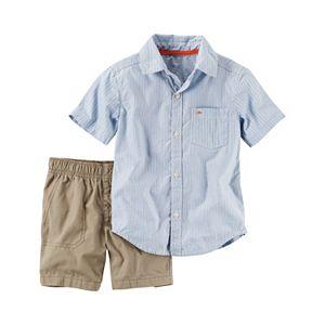 Baby Boy Carter's Striped Shirt & Solid Shorts Set
