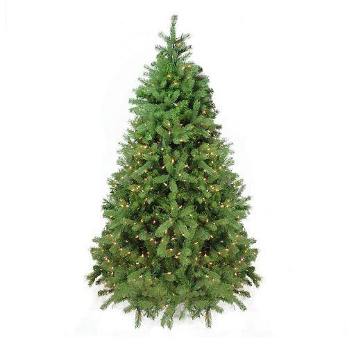 6.5-ft. Pre-Lit Artificial Noble Fir Christmas Tree