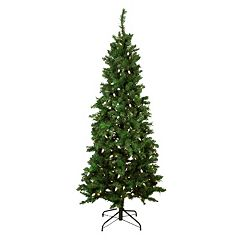 7-ft. Pre-Lit Artificial Mixed Pine Slim Christmas Tree