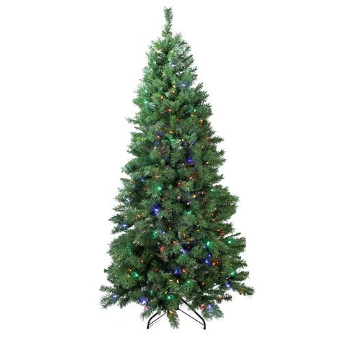 7-ft. Pre-Lit Artificial Glacier Pine Christmas Tree