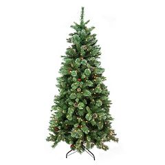 7.5-ft. Pre-Lit Artificial Glitter Christmas Tree