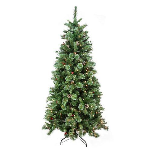 7.5-ft. Pre-Lit Artificial Glitter Christmas Tree