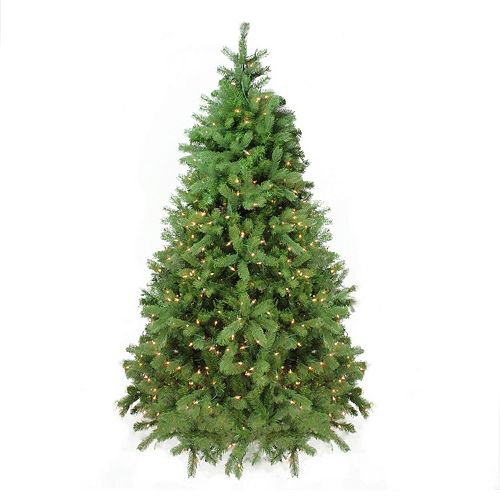 7.5-ft. Pre-Lit White Artificial Noble Fir Christmas Tree