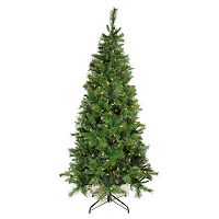 7-ft. Pre-Lit Artificial Mount Beacon Pine Slim Christmas Tree