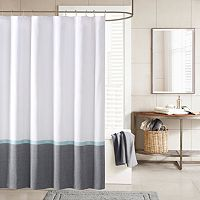 INK+IVY Hudson Chambray Shower Curtain