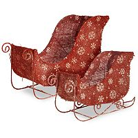 National Tree Company Santa's Sleigh Table Christmas Decor 2-piece Set