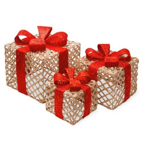 National Tree Company Gift Box Christmas Table Decor 3-piece Set