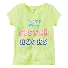 Girls 4-8 Carter's 'My Sister Rocks' Slubbed Graphic Tee