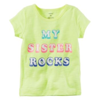 "Girls 4-8 Carter's ""My Sister Rocks"" Slubbed Graphic Tee"