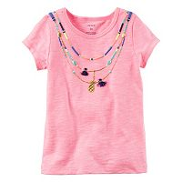 Girls 4-8 Carter's Short Sleeve Necklace Tee