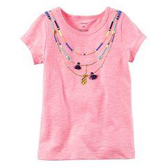Girls 4-8 Carter's Short Sleeve Necklace Tee