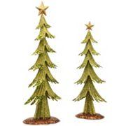 National Tree Company Metal Christmas Tree Table Decor 2 pc Set