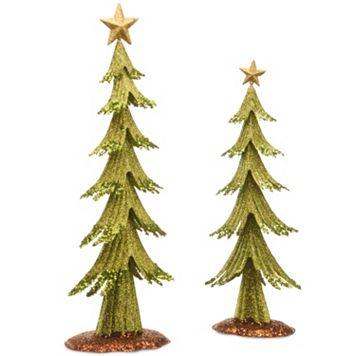 National Tree Company Metal Christmas Tree Table Decor 2-piece Set