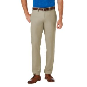 Men's Haggar® Cool 18® PRO Slim-Fit Wrinkle-Free Flat-Front Super Flex Waist Pants