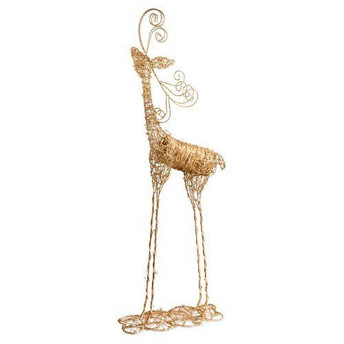 National Tree Company Rattan Reindeer Christmas Floor Decor