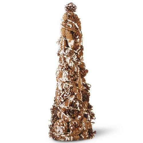 "National Tree Company 22"" Natural Pine Cone Christmas Tree Table Decor"