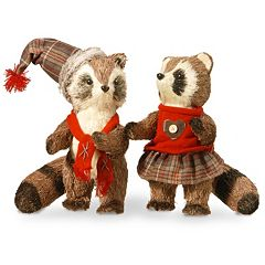 National Tree Company Raccoon Table Decor 2 pc Set