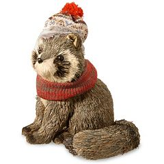 National Tree Company Brown Raccoon Table Decor