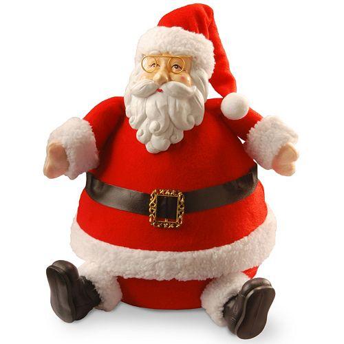 "National Tree Company 13"" Sitting Santa Christmas Table Decor"