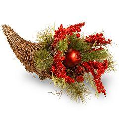 National Tree Company 20' Holiday Cornucopia Basket Table Decor