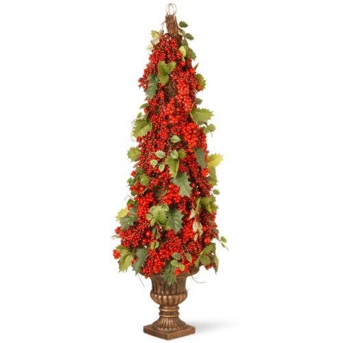 National Tree Company 33″ Holly and Berry Tree Floor Decor