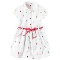Girls 4-8 Carter's Short Sleeve Poplin Shirt Dress