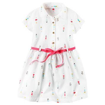 Girls 4-8 Carter's Short Sleeve Poplin Shirt Dress