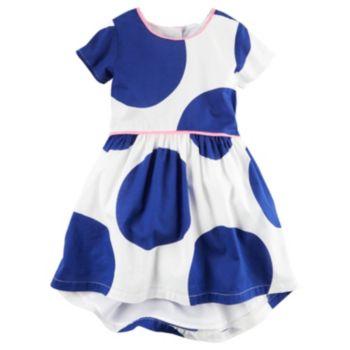 Girls 4-8 Carter's Blue Polka-Dot Dress