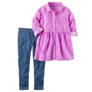 Baby Girl Carter's Gingham Tunic & Jeggings Set