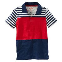 Boys 4-12 OshKosh B'gosh® Short Sleeve Stipe Polo