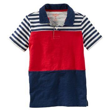 Boys 4-12 OshKosh B'gosh® Short Sleeve Stipe Polo