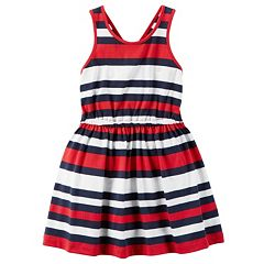 Girls 4-8 Carter's Red, White & Blue Striped Dress