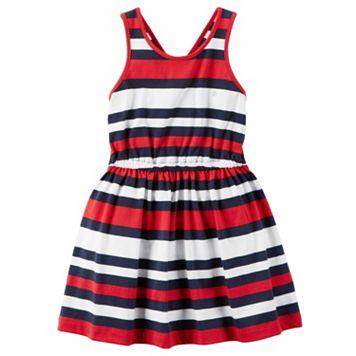Girls 4-8 Carter's Red, White & Blue Striped Dress