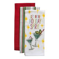 Tommy Bahama Holiday Spirit Kitchen Towel 3-pk.
