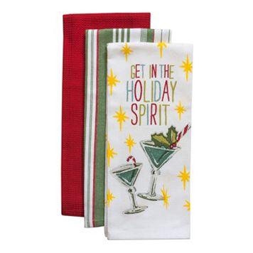 Tommy Bahama Holiday Spirit Kitchen Towel 3-pk.