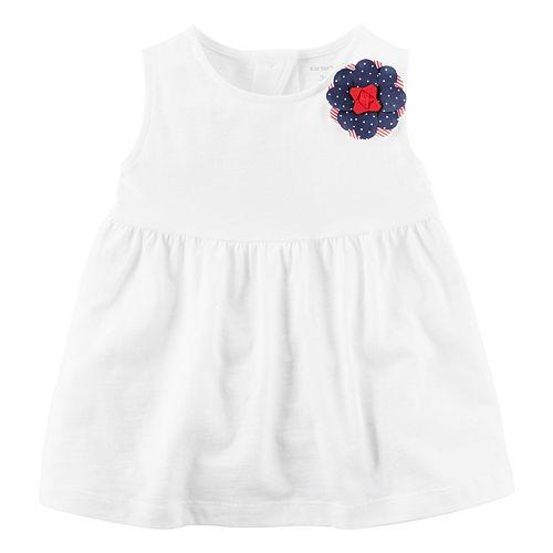 Girls 4-8 Carter's White Sleeveless Cutout Back Top