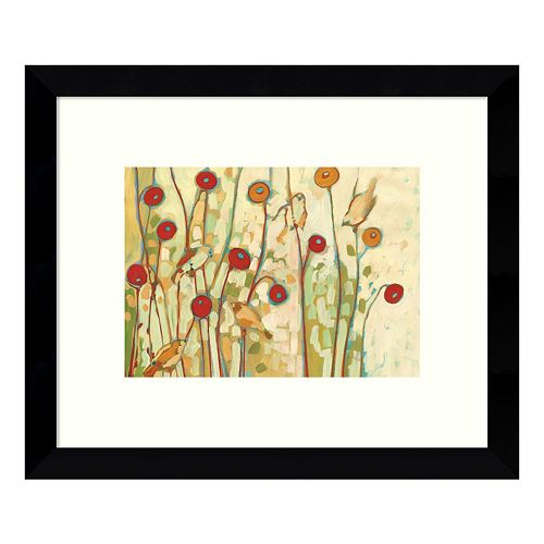 Five Little Birds Playing Amongst the Poppies Framed Wall Art