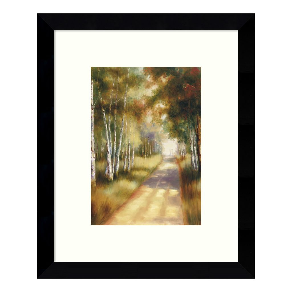 Peaceful Passage in the Forest Framed Wall Art