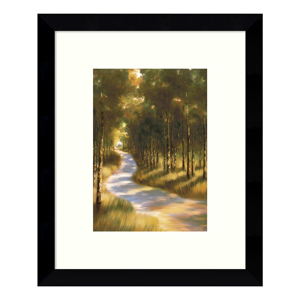 Along the Way Through the Forest Framed Wall Art