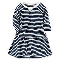 Girls 4-6x Carter's Long Sleeve Striped Knit Dress