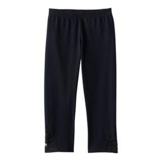 Girls 7-16 & Plus Size SO® Lace Side Capri Leggings