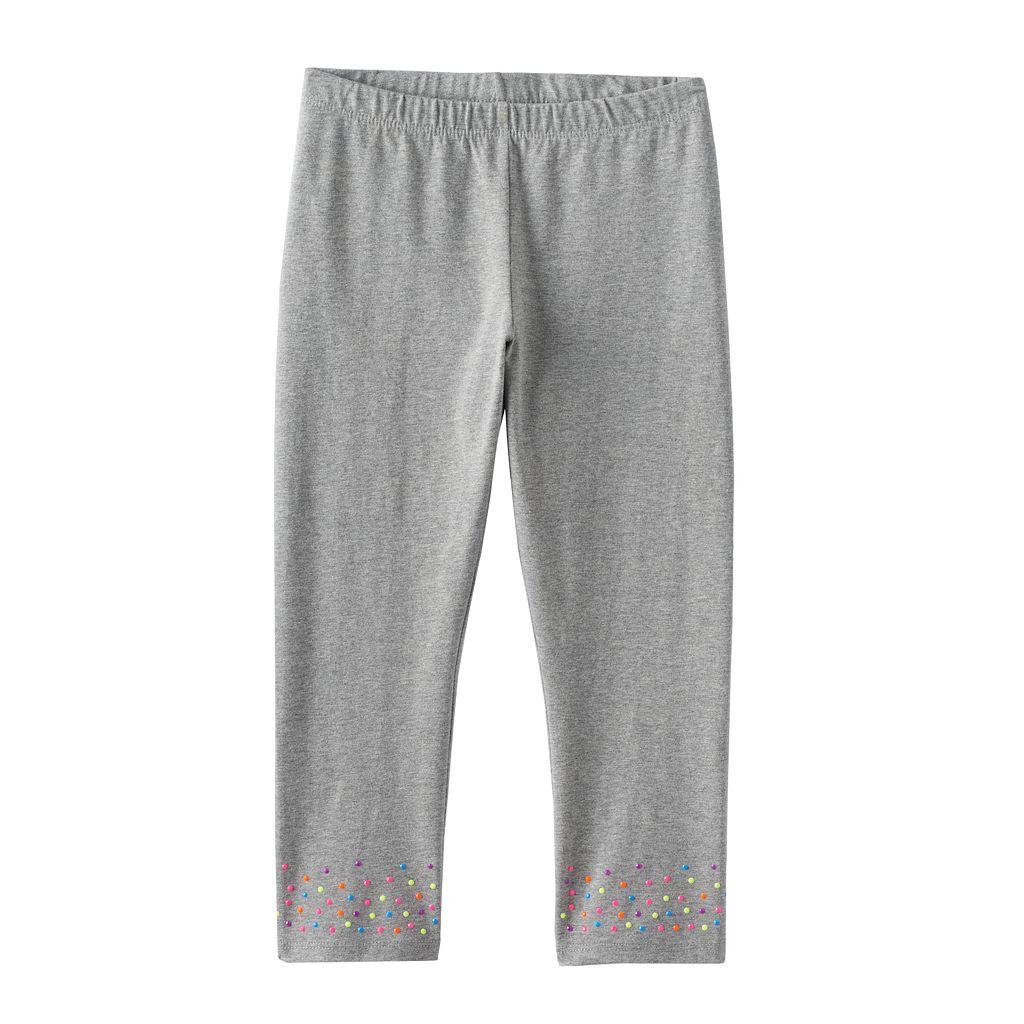 Girls 7-16 & Plus Size SO® Textured Hem Capri Leggings
